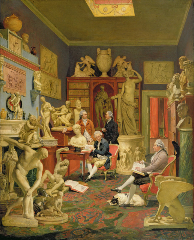 Charles Townley and friends in his library by Johann Zoffany